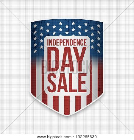 Independence Day Sale USA national vector Banner for Your Design