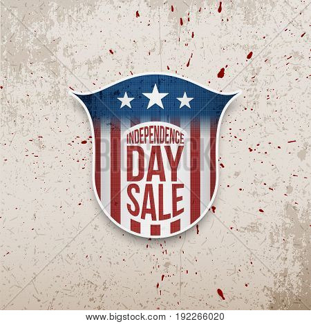USA Independence Day grunge vector Background with Text for Your Design