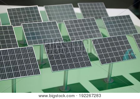 The layout of the solar panel closeup
