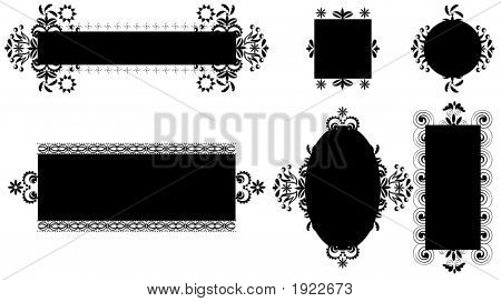 Black And White Design Elements