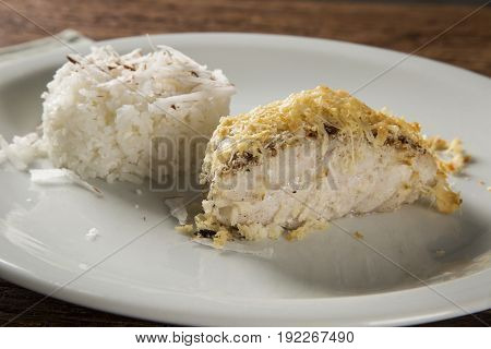 Fillet Of Haddock With Coconut Rice
