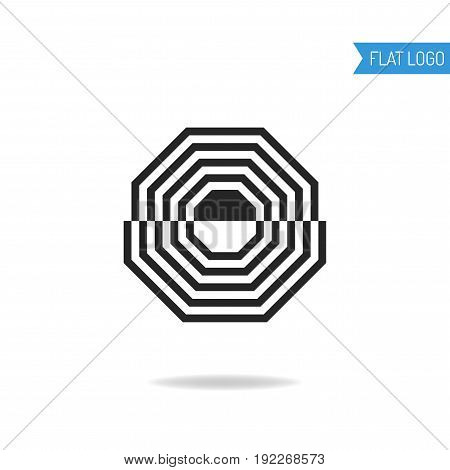 Business, technical and engineering logo for company. Geometric logotype for design