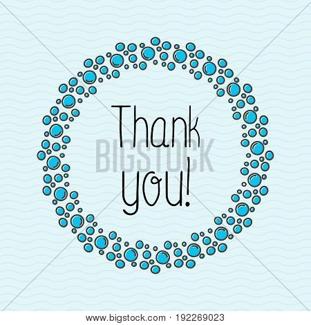 Concept Thank you with bubbles for web site, banner or card. Simple minimalistic vector illustration.