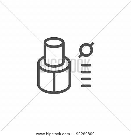 Tube insulation line icon isolated on white. Vector illustration