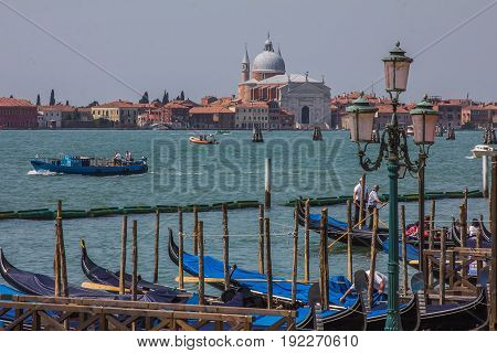 VENICE, ITALY - MAY 23, 2017: Church of San Giorgio Maggiore in Venice