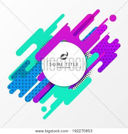 Abstract dynamic geometric background. Modern concept. Vector illustration