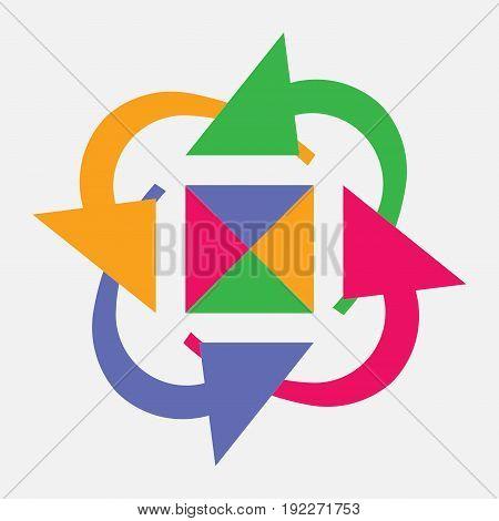 icon circular arrows rotating circle fully editable image