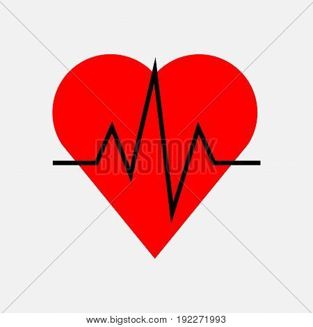icon pulse of the heart cardiology health fully editable image