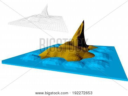 faroe islands abstract illustration on white background