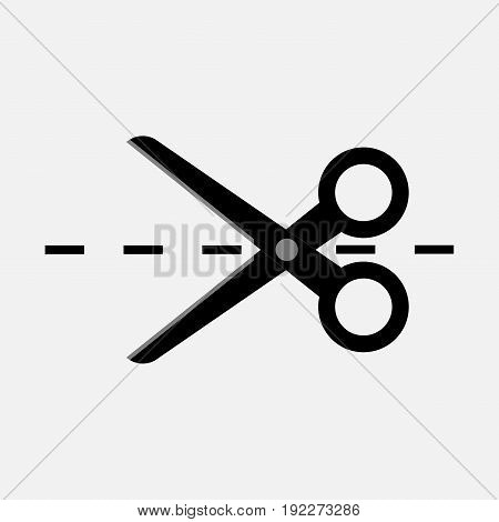 scissors icon tailor business fully editable image