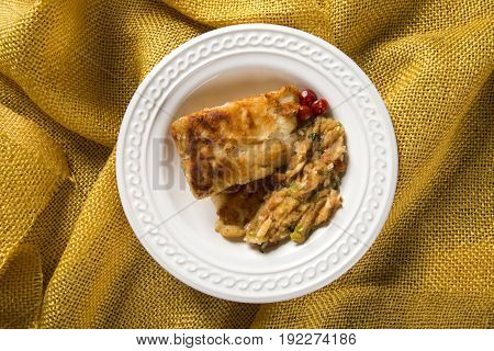 Fried Fish With Farofa - Traditional Amazonian Dish - Filhote Caboclo