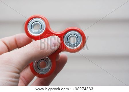 Fidget Spinner In The Hand.
