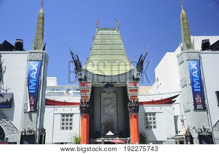 May 21 2017. Los Angeles California. The landmark iconic TCL Chinese theater exterior in Hollywood area of los angeles california.