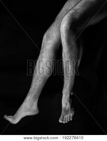 Beautiful, Muscular, Bare Male Feet