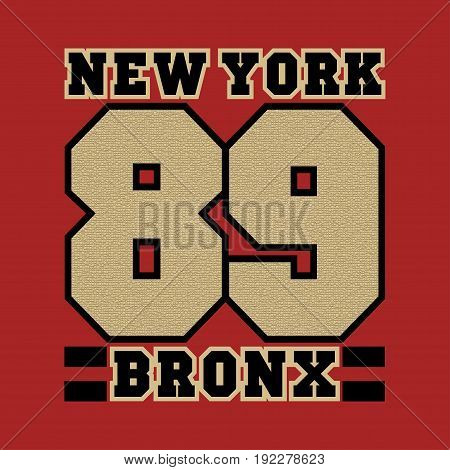 New York bronx the best in the team basketball printing sports T-shirt fashion graphic design
