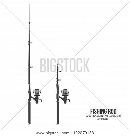Fishing rod isolated on the white background. Vector illustration.