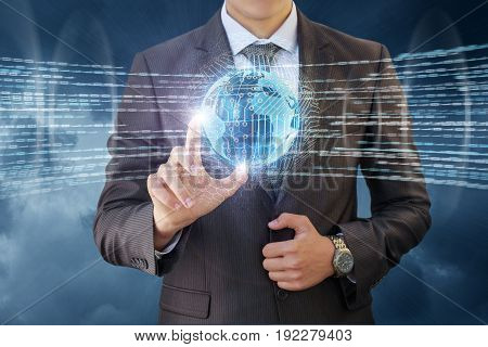 The Businessman Controls The Flow Of Information .