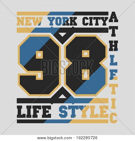 New York typography design graphic t-shirt printing man NYC original design clothing clothing graphic design