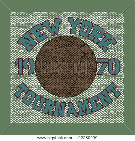basketball sport new york typography t-shirt graphics image print sport