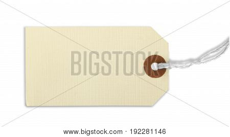 Label blank price tag on white background