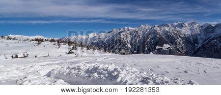 Val Blenio. Snowy Path