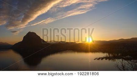 Switzerland - Ticino Lugano. Sunset Park St. Michael