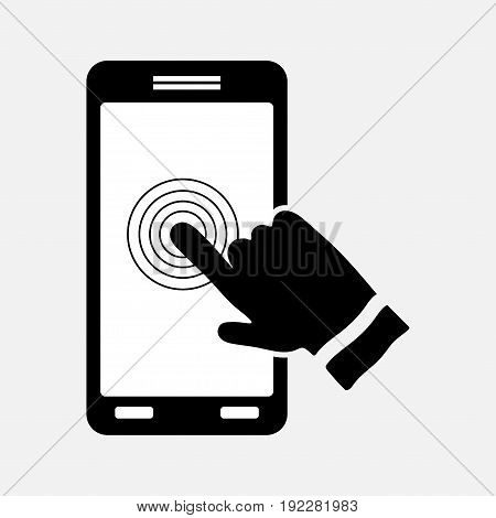 icon touch screen control technology sign for smartphone mtobylnaya technologists fully editable image