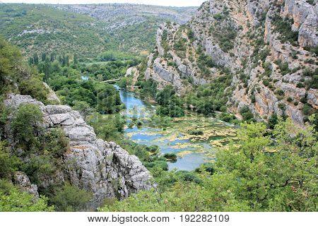 Krka national park near Roski waterfalls, Croatia