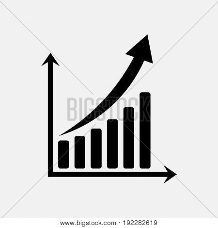 icon graph of trade exchange rates market fully editable image