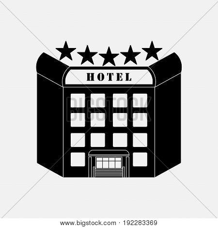 icon hotel five stars label sticker symbol fully editable image