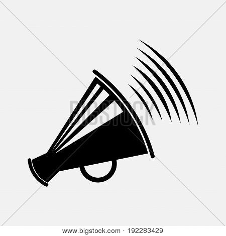 icon megaphone message report information fully edit image