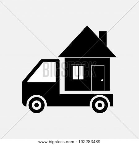 icon moving home transportation mobile home fully editable image