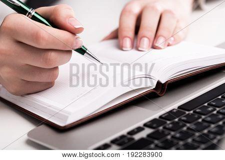 Writer pen writing laptop studying preparation laptop keyboard