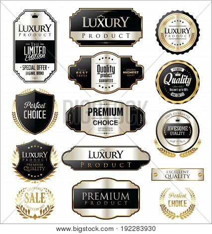 Premium And Luxury Silver Retro Badges And Labels Collection.eps