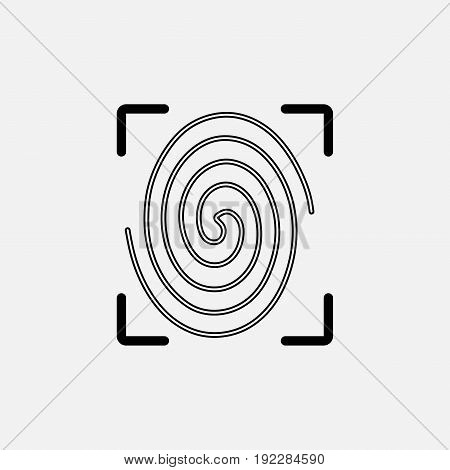 icon fingerprint identity verification fully editable image