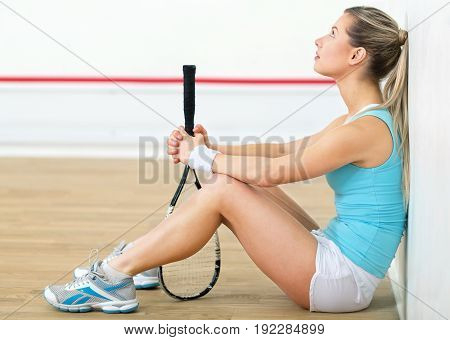 Female young player tennis racket young adult sport