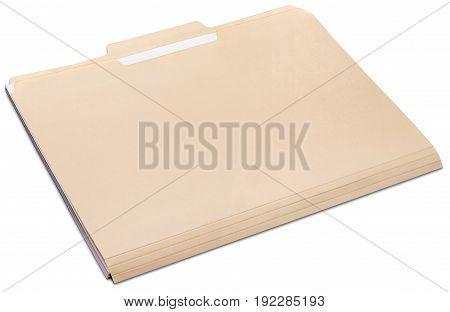 Document folder manila yellow white background object