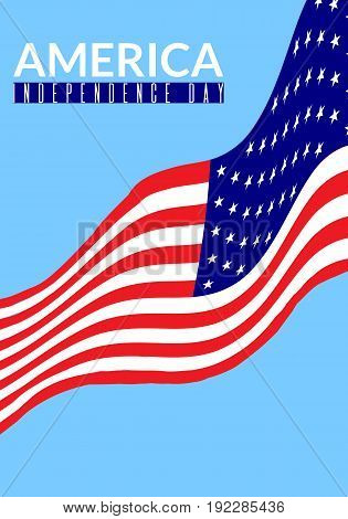 America independence day vector illustration. Sable for posters greeting cards flyers banners