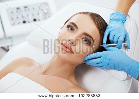 Woman Doing Contouring Plastic Surgery