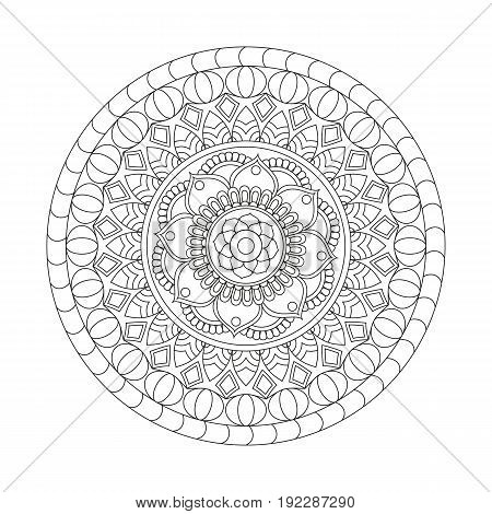 Flower Mandala. Vintage Decorative Elements. Oriental Pattern, Vector Illustration. Islam, Arabic, I