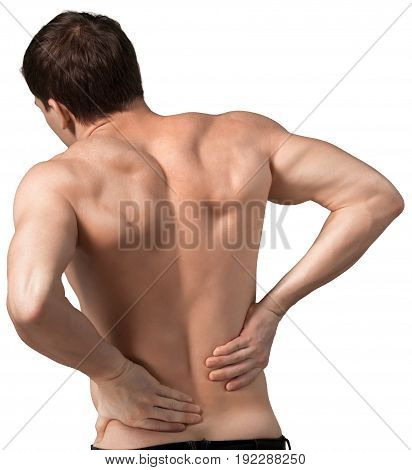 Man back touch sport image view side