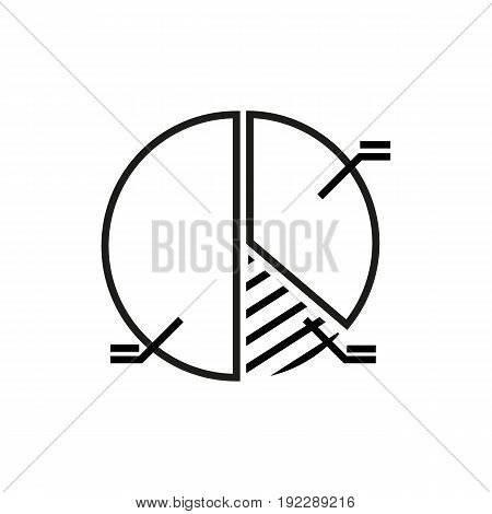 information circle diagram vector illustration on white background.