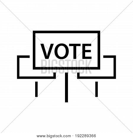 Vector illustration of agitation posters to carry out the civic duty on white background