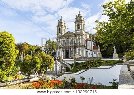 Bom Jesus do Monte, a Portuguese sanctuary in Tenoes, outside the city of Braga, in northern Portugal