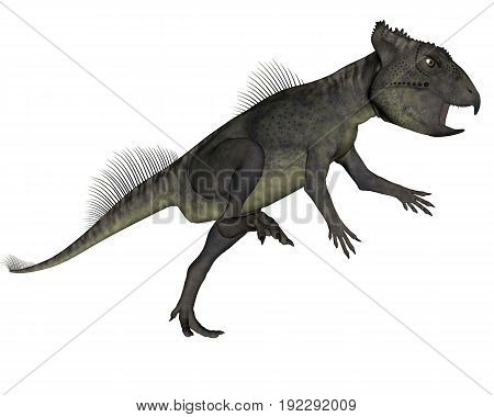 Archaeoceratops dinosaur roaring isolated in white background - 3D render