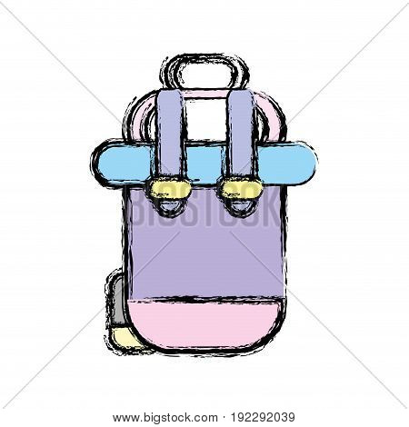 backpack to go to exploration of vacation vector illustration