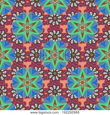 Oriental flourish vector. Yoga logo background for meditation poster. Indian flower mandala. Decorative colored round ornament. Colorful mandala. Anti-stress mandala.