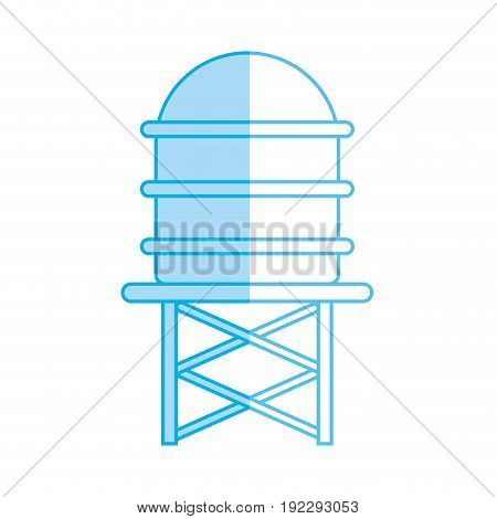silhouette water tank tower to environment reserve vector illustration