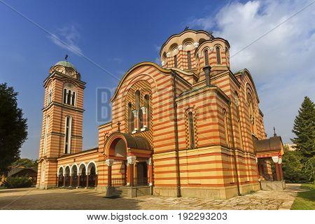 Orthodox Christian Church of Holy Trinity, Banja Luka by day, Bosnia and Herzegovina