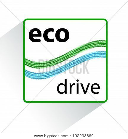 Icon eco drive. Green eco friendly icon.